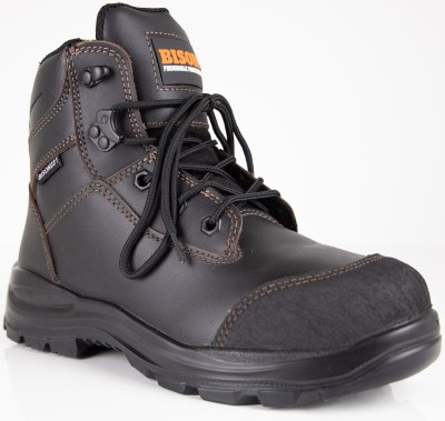 BISON TOR LACE UP ZIP SIDE ANKLE SAFETY BOOT