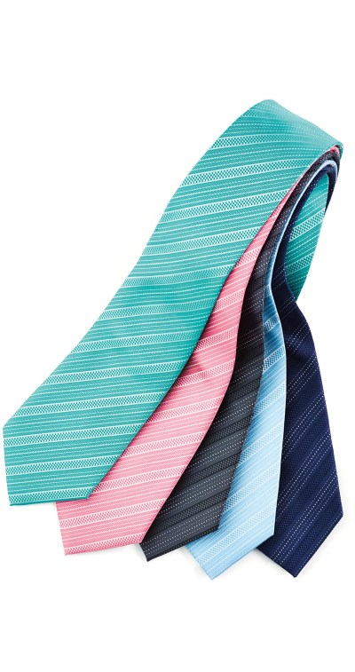 MENS SELF STRIPE TIE