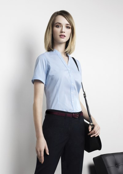 BORDEAUX LADIES SHORT SLEEVE SHIRT