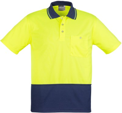 UNISEX HI VIS BASIC SPLICED POLO - SHORT SLEEVE