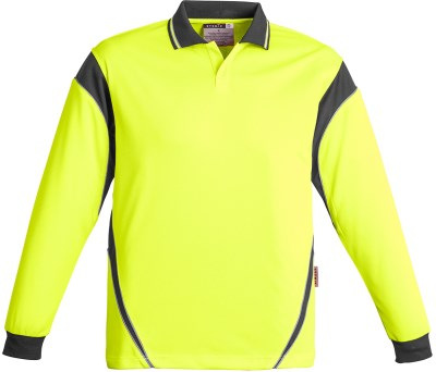 MENS HI VIS AZTEC POLO - LONG SLEEVE