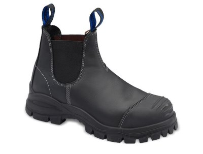 BLUNDSTONE ELASTIC SIDE SAFETY BOOT WITH SCUFF CAP