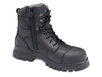 BLUNDSTONE 997 ZIP SIDE SAFETY BOOT WITH SCUFF CAP