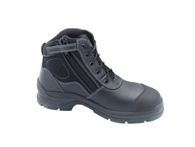 BLUNDSTONE LACE UP ZIP SIDE SAFETY BOOT