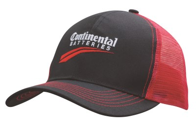 HSZ BREATHABLE POLY TWILL CAP WITH MESH BACK
