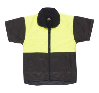 FAR SOUTH YELLOW HI-VIZ TOP S/S OILSKIN VEST