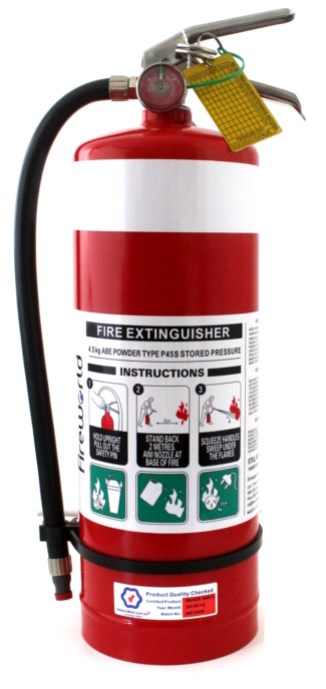 SAFEWORLD 4.5KG ABE FIRE EXTINGUISHER