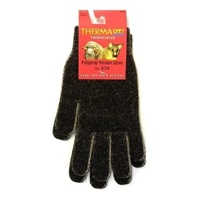 THERMADRY POSSUM/POLYPROPYLENE GLOVES - FINGERED