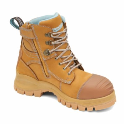 BLUNDSTONE 892 XFOOT ZIP SIDE LADIES SAFETY BOOT WHEAT